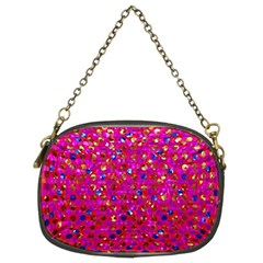 Polka Dot Sparkley Jewels 1 Chain Purses (two Sides)  by MedusArt