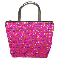 Polka Dot Sparkley Jewels 1 Bucket Bags by MedusArt