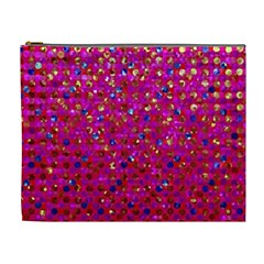 Polka Dot Sparkley Jewels 1 Cosmetic Bag (xl) by MedusArt