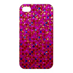 Polka Dot Sparkley Jewels 1 Apple Iphone 4/4s Premium Hardshell Case by MedusArt