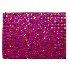 Polka Dot Sparkley Jewels 1 Cosmetic Bag (xxl)  by MedusArt