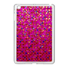Polka Dot Sparkley Jewels 1 Apple Ipad Mini Case (white) by MedusArt