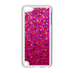 Polka Dot Sparkley Jewels 1 Apple Ipod Touch 5 Case (white) by MedusArt