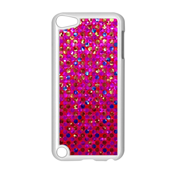Polka Dot Sparkley Jewels 1 Apple iPod Touch 5 Case (White)