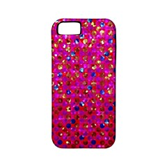 Polka Dot Sparkley Jewels 1 Apple Iphone 5 Classic Hardshell Case (pc+silicone) by MedusArt