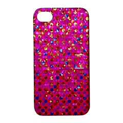 Polka Dot Sparkley Jewels 1 Apple Iphone 4/4s Hardshell Case With Stand by MedusArt