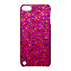 Polka Dot Sparkley Jewels 1 Apple Ipod Touch 5 Hardshell Case With Stand by MedusArt