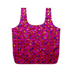 Polka Dot Sparkley Jewels 1 Full Print Recycle Bags (m)  by MedusArt