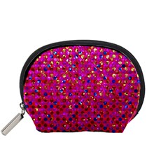 Polka Dot Sparkley Jewels 1 Accessory Pouches (small)  by MedusArt