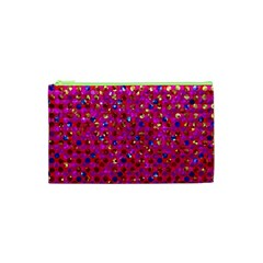 Polka Dot Sparkley Jewels 1 Cosmetic Bag (xs) by MedusArt