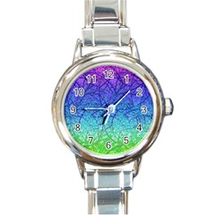 Grunge Art Abstract G57 Round Italian Charm Watch