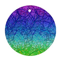 Grunge Art Abstract G57 Ornament (round) by MedusArt