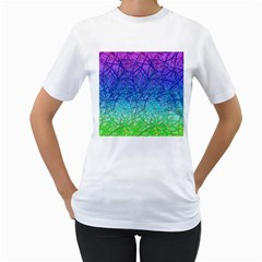 Grunge Art Abstract G57 Women s T Shirt (white) (two Sided) by MedusArt