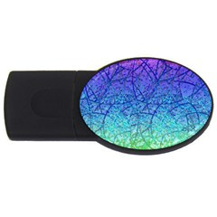 Grunge Art Abstract G57 Usb Flash Drive Oval (4 Gb) by MedusArt