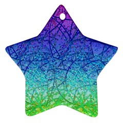 Grunge Art Abstract G57 Star Ornament (two Sides)