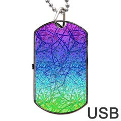 Grunge Art Abstract G57 Dog Tag Usb Flash (one Side) by MedusArt