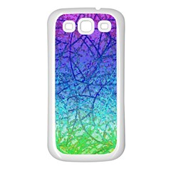 Grunge Art Abstract G57 Samsung Galaxy S3 Back Case (white) by MedusArt