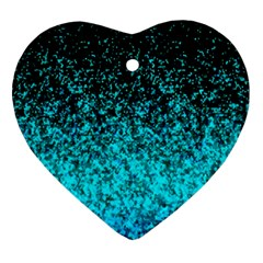 Glitter Dust G162 Heart Ornament (2 Sides) by MedusArt
