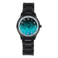 Glitter Dust G162 Stainless Steel Round Watches by MedusArt
