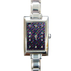 Polka Dot Sparkley Jewels 2 Rectangle Italian Charm Watches by MedusArt