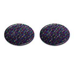Polka Dot Sparkley Jewels 2 Cufflinks (oval) by MedusArt