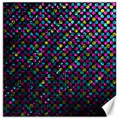 Polka Dot Sparkley Jewels 2 Canvas 16  X 16   by MedusArt