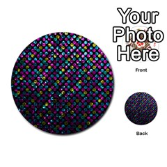 Polka Dot Sparkley Jewels 2 Multi Purpose Cards (round)  by MedusArt