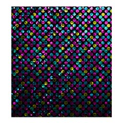 Polka Dot Sparkley Jewels 2 Shower Curtain 66  X 72  (large)