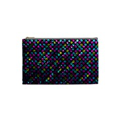 Polka Dot Sparkley Jewels 2 Cosmetic Bag (small)  by MedusArt