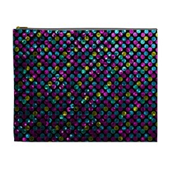 Polka Dot Sparkley Jewels 2 Cosmetic Bag (xl) by MedusArt