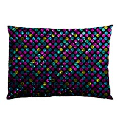 Polka Dot Sparkley Jewels 2 Pillow Cases (two Sides) by MedusArt