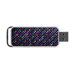 Polka Dot Sparkley Jewels 2 Portable Usb Flash (two Sides) by MedusArt