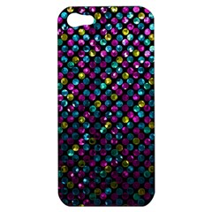 Polka Dot Sparkley Jewels 2 Apple Iphone 5 Hardshell Case by MedusArt