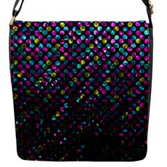 Polka Dot Sparkley Jewels 2 Flap Messenger Bag (s) by MedusArt