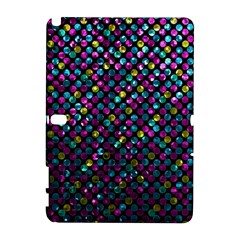 Polka Dot Sparkley Jewels 2 Samsung Galaxy Note 10 1 (p600) Hardshell Case by MedusArt