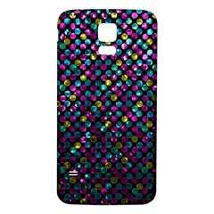 Polka Dot Sparkley Jewels 2 Samsung Galaxy S5 Back Case (white) by MedusArt
