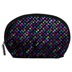 Polka Dot Sparkley Jewels 2 Accessory Pouches (large)  by MedusArt