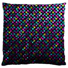 Polka Dot Sparkley Jewels 2 Large Flano Cushion Cases (two Sides)  by MedusArt