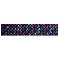 Polka Dot Sparkley Jewels 2 Flano Scarf (small)  by MedusArt