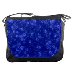 Snow Stars Blue Messenger Bags by ImpressiveMoments