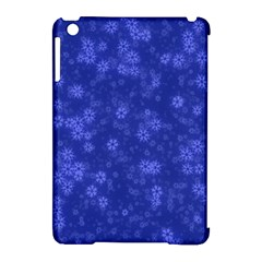 Snow Stars Blue Apple Ipad Mini Hardshell Case (compatible With Smart Cover) by ImpressiveMoments