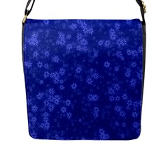 Snow Stars Blue Flap Messenger Bag (l)  by ImpressiveMoments