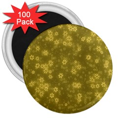 Snow Stars Golden 3  Magnets (100 Pack) by ImpressiveMoments