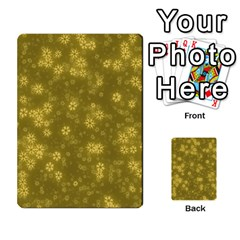 Snow Stars Golden Multi Purpose Cards (rectangle)