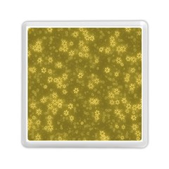 Snow Stars Golden Memory Card Reader (square)  by ImpressiveMoments
