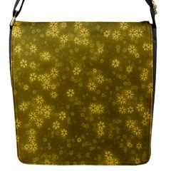 Snow Stars Golden Flap Messenger Bag (s) by ImpressiveMoments