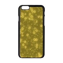 Snow Stars Golden Apple Iphone 6/6s Black Enamel Case