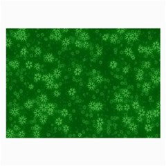 Snow Stars Green Large Glasses Cloth by ImpressiveMoments