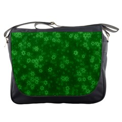 Snow Stars Green Messenger Bags by ImpressiveMoments