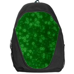 Snow Stars Green Backpack Bag by ImpressiveMoments